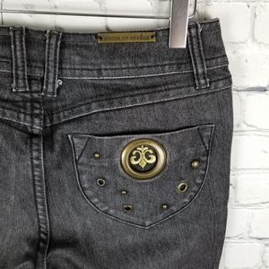 HOUSE OF DEREON   bootcut black wash jeans